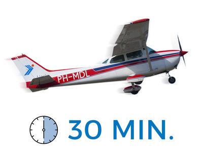 Proefles met 30 minuten vliegen